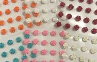Stick on Resin Roses Flowers Embellishments Choose Colour AUSSIE SELLER