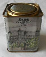 Rare Vintage Empty English Breakfast Tea TIN BOX by St James's Teas, Monuments