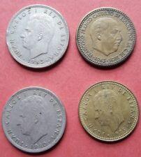 Peseta española monedas de 1963/73/80/83