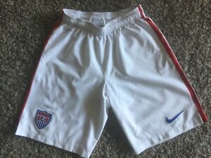 Nike Dri Fit Team USA Soccer UniSex Shorts Size Small,Excellent, White.