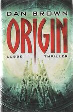 ORIGIN - Thriller von Dan Brown - GEBUNDENE AUSGABE - OVP