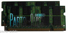 2GB 2 x 1GB PC2-5300 DDR2 667 MHz 200 pin SODIMM Laptop Notebook Memory RAM