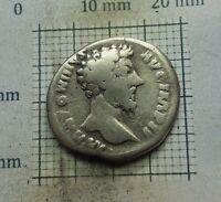 Original Antique Coin SILVER MARCUS AURELIUS ROMAN DENARIUS 161-180 A.D# 0125