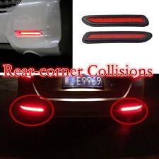 DEL Rouge Clignotant (Paire) prévenir l'arrière-Coin des Collisions voiture Réflecteur Pare Choc