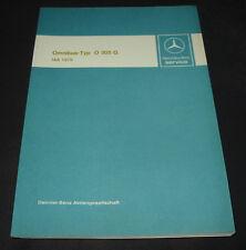 Werkstatthandbuch Mercedes Omnibus O 305 G Einführungsschrift IAA 1979!