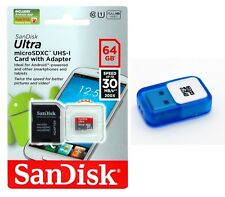 SanDisk 64 GB ULTRA Micro SD MicroSDHC Flash Memory Card with USB Reader 64G