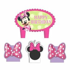 Minnie Mouse Birthday 4 pc Candle Set Cake Topper