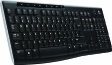 Professional Durable Logitech Wireless Receiver Computer Keyboard K270 UK layout