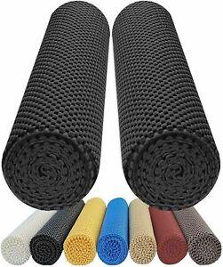 Non Slip Grip Mat Roll X 2 Rubber Shelf Drawer Liner Table Kitchen Cupboard UK