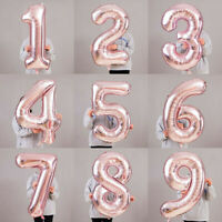 "40""Giant Foil Number Rose Gold Helium Large Balloon Birthday Party Wedding Decor"