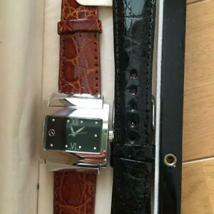 Mercedes Benz Watch Men with brown and black belt with Mercedes Benz mark !! MIN