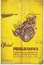 1949 TUBBERGEN ROADRACE PROGRAMME. DUTCH MOTO GP