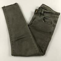 American Eagle Women's Sz 6 Super Super Stretch Fit Olive Green Jegging Crop