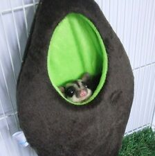 1 Pcs Cute Velvet Oval Bed Sugar Glider Cage, Brown & Green Color,Kullachy.shop