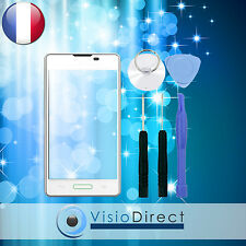 Vitre ecran tactile pour LG Optimus L5 E460 E450 blanc + adhésif + outils.
