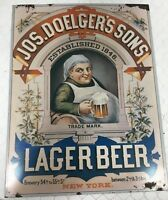Extremely Rare 1992 Jos. Doelger's Sons Lager Beer Bar New York Sign Established