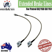 """For Nissan 2-6"""" Extended Stainless Braided Brake Lines Patrol GQ Y60 GU Y61 Lift"""