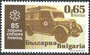 Mint stamp 85 years of ambulance, Red Cross, car 2020 from Bulgaria avdpz