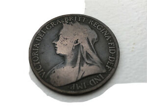 1897 One Penny Coin Victoria