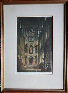 Joseph Pimm - Mid 20th Century Signed Etching Artists Proof of Norwich Cathedral