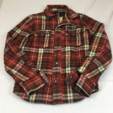 Hollister Flannel Quilt Lined Shirt Jacket Large