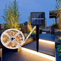 3-5m LED Waterproof Solar Powered Light Strip Garden Outdoor Party Xmas Decor