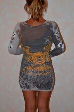 jolie robe grise SMET LOS ANGELES ## hallyday  taille XS ** NEUVE ÉTIQUETTE **