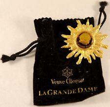 VEUVE CLICQUOT PONSARDIN PORTRAIT BROOCH OF LA GRAND DAME LGD NEW IN BRANDED BAG
