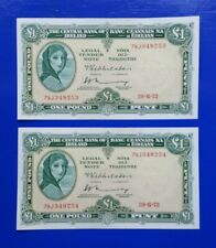 Irish Banknotes in Sequence