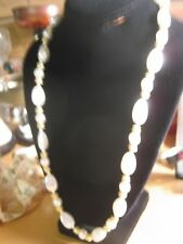 White Bead gold Tone Necklace Jewelry