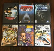 Lot  6 PS2 games Heatseeker Jaws Bass King Kong Jimmy Neutron Twonkies Killzone