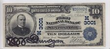 1902 First National Bank of Stevens Point, WI $10 Date Back Note CH 3001 M35982