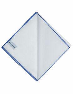 Simonnot Godard Handkerchief IN White With Handrollierter Blue Edging/RegEUR60