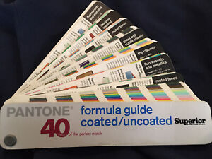 Pantone Formula Guide 40 Year Anniversary Coated & Uncoated - Used