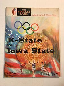 1968 Football Program Kansas State vs Iowa State