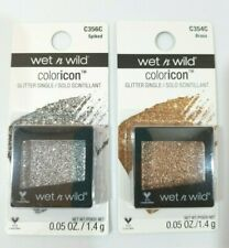 Wet n Wild Coloricon Glitter Singles BRASS Gold/Bronze & SPIKED Silver Lot of 2