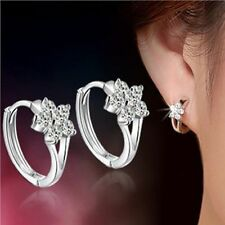 Designs Zircon Hot Sale Decent New Earrings Snowflake Ear Stud Silver Color