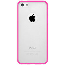 For iPhone 5C SlimGrip Hybrid TPU Bumper Case Clear Back Cover - Cloudy/ Pink