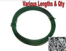 Resistente PVC Verde Filo U Chiodi Recinzione Rete Recinto Pianta Giardino