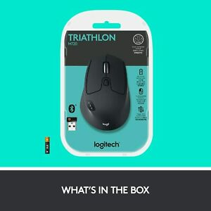 Logitech M720 Triathlon Wireless Mouse - Black