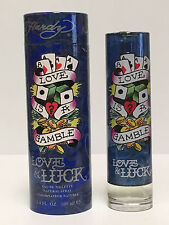 LOVE AND & LUCK By Ed Hardy For Men Cologne EDT Spray 3.4 OZ NEW IN BOX AS SHOWN