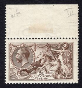 1918 Great Britain. SC#179. SG#413a. Mint, Never Hinged, XF. Marginal