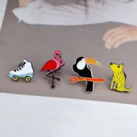 Cartoon Kids Gift 4 Piece/Set Collar Badge Enamel Brooch Pin Fashion Jewelry