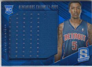 2013-14 Kentavious Caldwell Pope Spectra ROOKIE BLUE JUMBO JERSEY /75 - #16