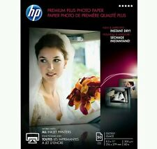HP Premium Plus Glossy Photo Paper 8.5x11, 50 sheets total / CR664A