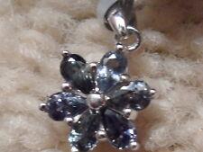 Rare 100% Natural 1.98ct Tunduru Colour Change Sapphire Sterling Silver Pendant*