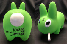 "Frank Kozik SIGNED Kidrobot 10"" GID Green Labbit INSC AUTOGRAPHED New in Box"