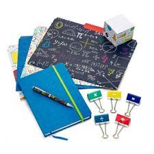 Mathematical Stationery Set Binder Clips File Folders Memo Cube & More Math Fun