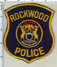 Rockwood Police (Michigan)  Shoulder Patch  - new from 1985