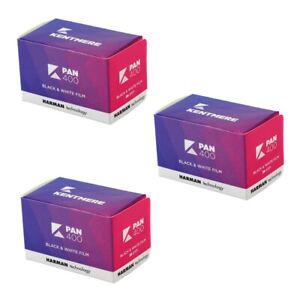 3 Rolls x Kentmere Black & White Camera Film ISO Pan 400 35mm 36exp 135-36 New